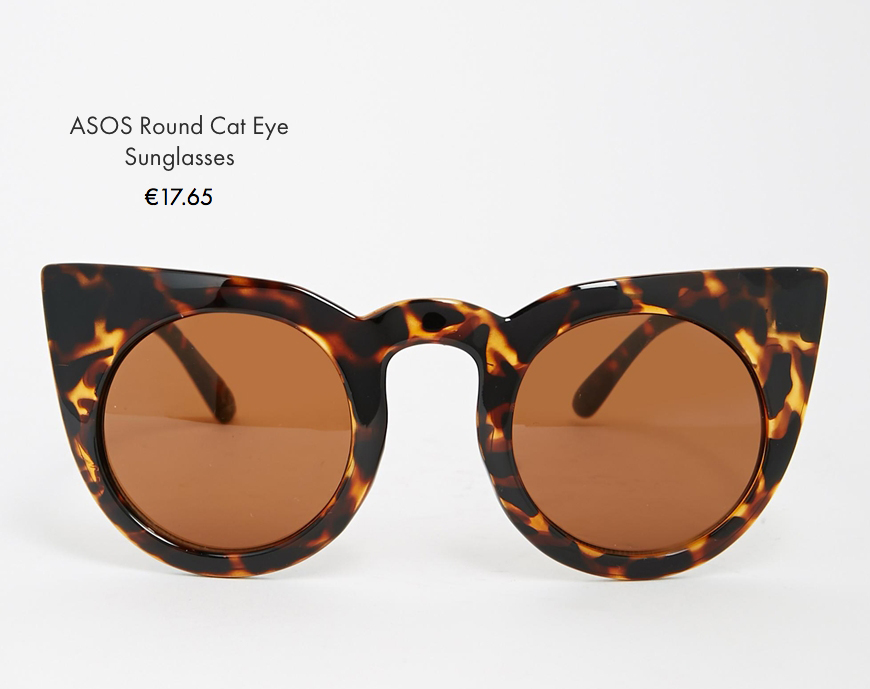 Asos round cat eye sunglasses asos behind my glasses blog giulia de martin low cost sunglasses