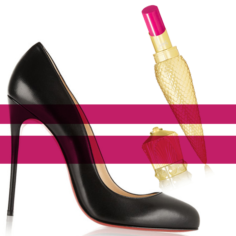 CHRISTIAN LOUBOUTIN BEAUTY Sheer Voile Lip Colour - Loubiminette - CHRISTIAN LOUBOUTIN Dorissima 120 leather pumps behindmyglasses.com