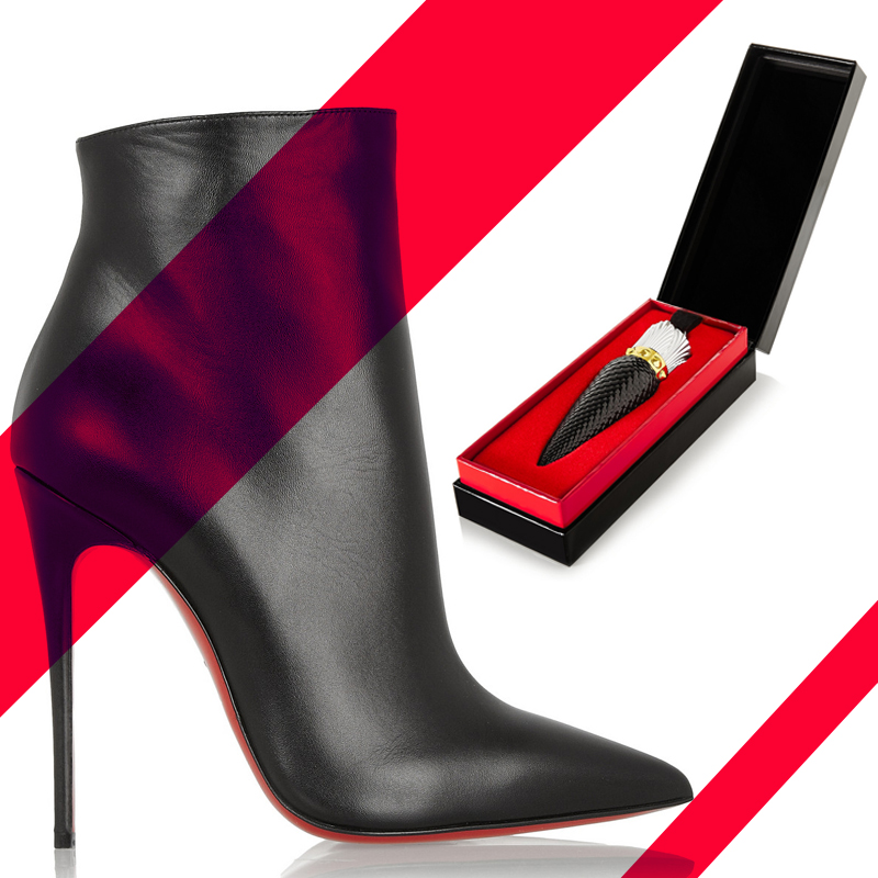 Christian Louboutin So Kate 120 leather ankle boots CHRISTIAN LOUBOUTIN BEAUTY Sheer Voile Lip Colour - Rouge Louboutin