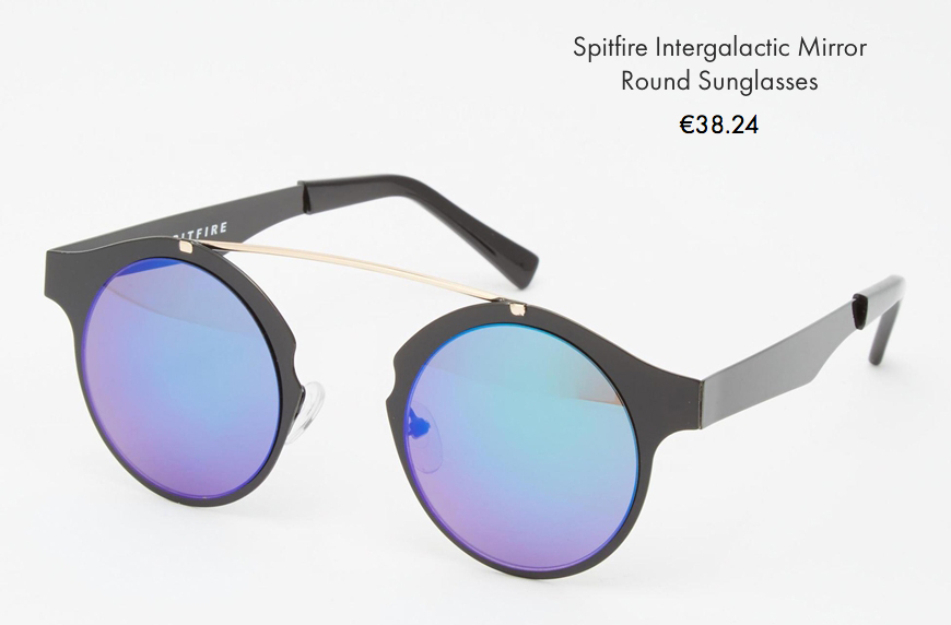 Spitfire intergalactic mirror rounded sunglasses asos behind my glasses blog giulia de martin low cost sunglasses