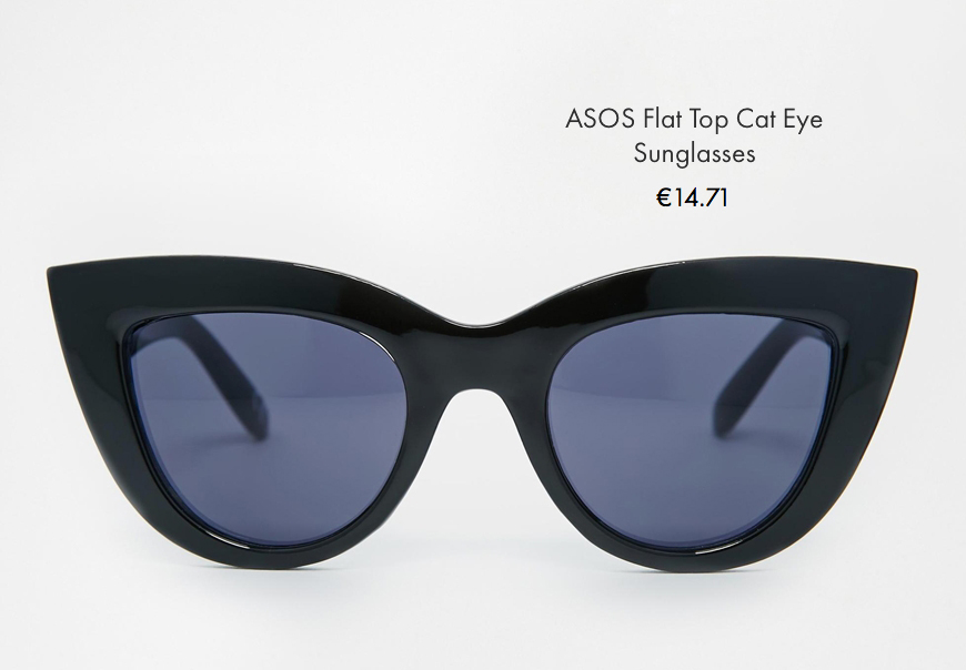 asos flat top can eye sunglasses asos behind my glasses blog giulia de martin low cost sunglasses