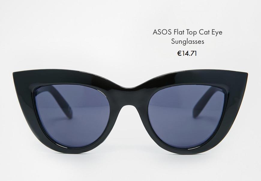asos flat top can eye sunglasses asos behind my glasses blog giulia de martin low cost sunglasses