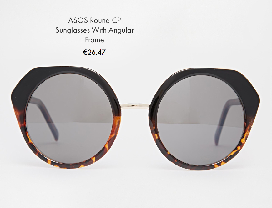 asos round CP sunglasses with angular frame asos behind my glasses blog giulia de martin low cost sunglasses