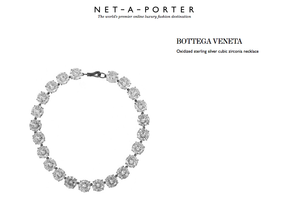 bottega veneta zirconia necklace behind my glasses blog net a porter