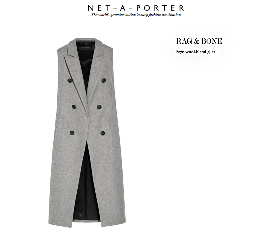 net a porter sweater pants theory gilet rag and bone