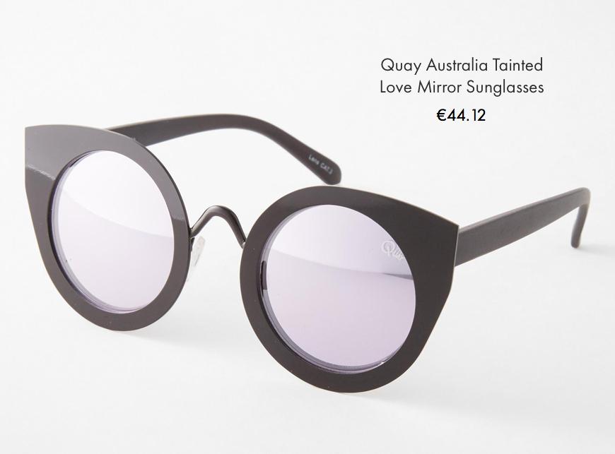 quay australia tainte love mirror sunglasses asos behind my glasses blog giulia de martin low cost sunglasses