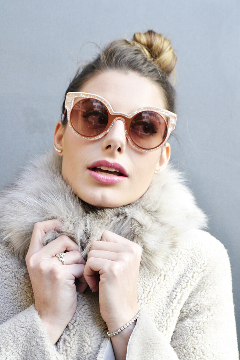 1 behindmyglasses.com giulia de martin fendi paradeyes sunglasses in pink fall winter 2015 2016