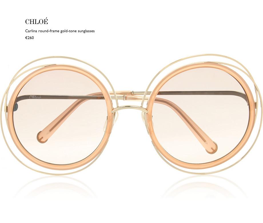 1 chloé carlina round-frame gold-tone sunglasses net a porter eyewear behindmyglasses.com giulia de martin blog