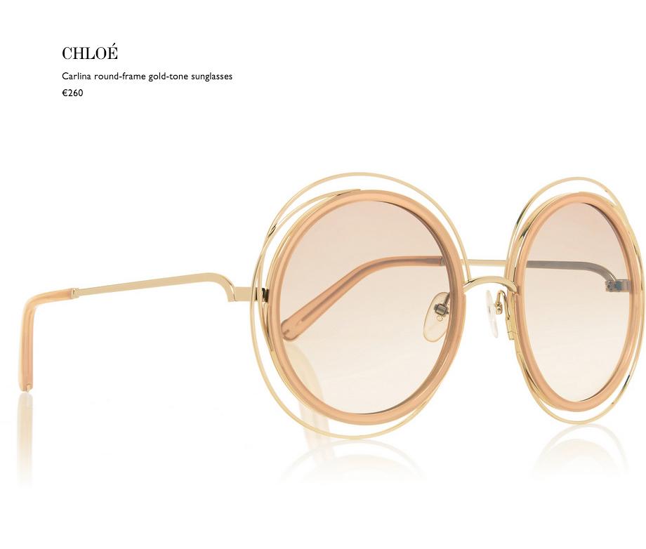2 chloé carlina round-frame gold-tone sunglasses net a porter eyewear behindmyglasses.com giulia de martin blog