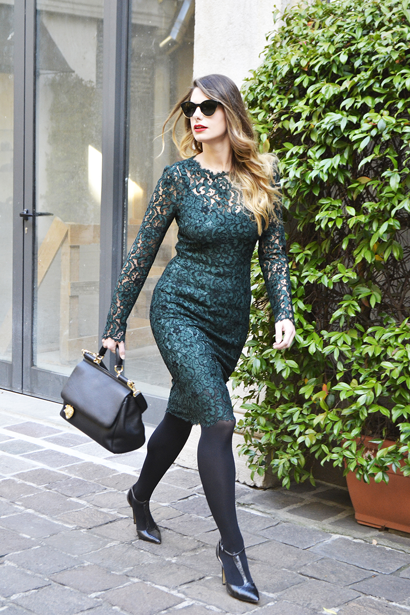2 giulia de martin dior sunglasses 2016 fall winter dolce & gabbana miss sicily bag and dress lace behindmyglasses.com
