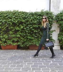 giulia de martin dior sunglasses 2016 fall winter dolce & gabbana miss sicily bag and dress lace behindmyglasses.com