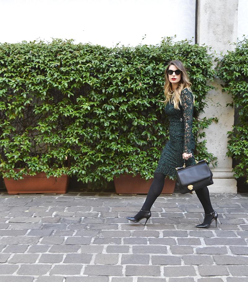 3 giulia de martin dior sunglasses 2016 fall winter dolce & gabbana miss sicily bag and dress lace behindmyglasses.com