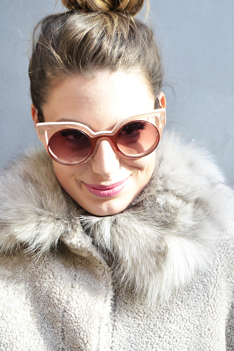 5 behindmyglasses.com giulia de martin fendi paradeyes sunglasses in pink fall winter 2015 2016