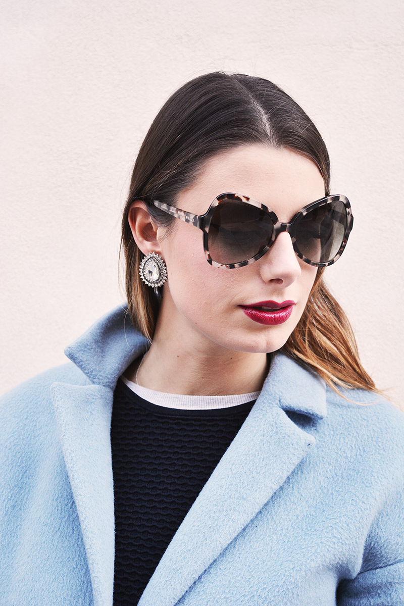 prada blue tortoise sunglasses