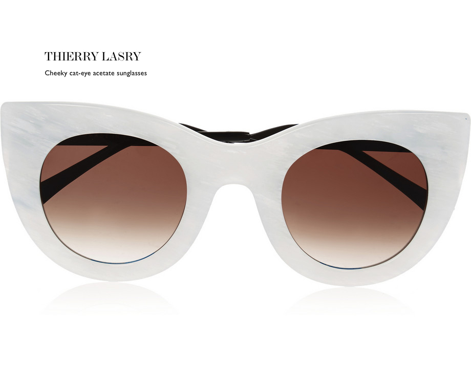 THIERRY LASRY Cheeky cat-eye acetate sunglasses behindmyglasses.com