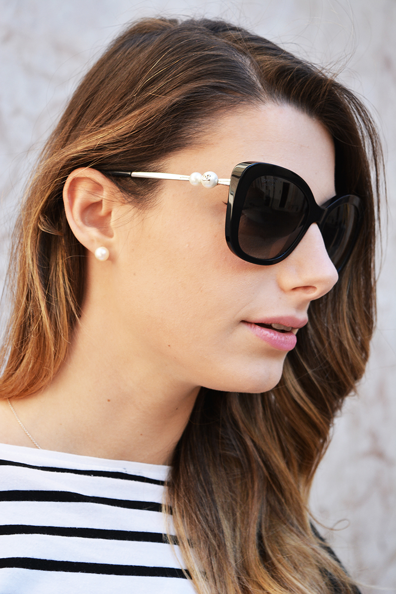 Chanel Cat Eye Pearl Sunglasses