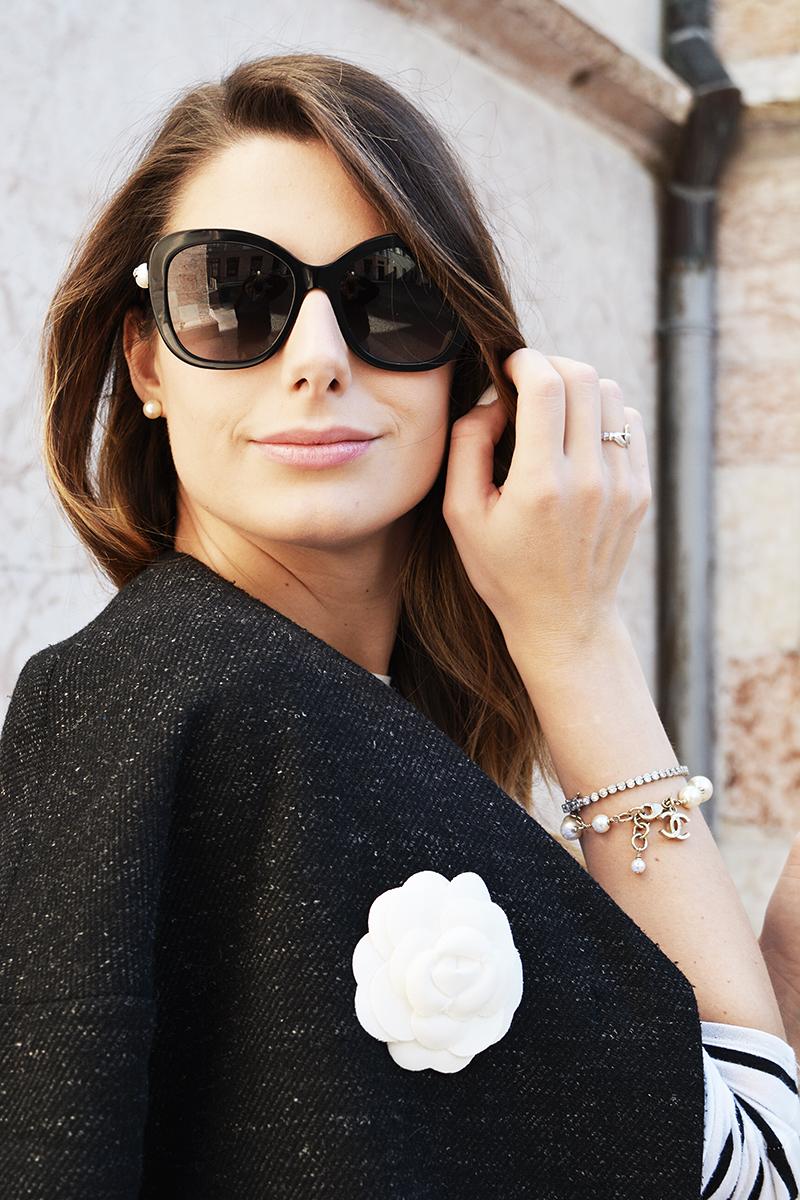 12 chanel fall winter pearls sunglasses black cat eye 2015 2016 nina ricci bag behindmyglasses.com giulia de martin