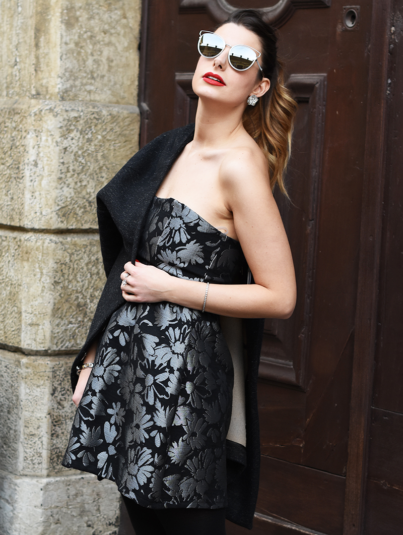 6 giulia de martin bianco concept store behindmyglasses new year's eve night dior silver mirror lenses sunglasses metal frame eyewear collection 2015 2016 fall winter