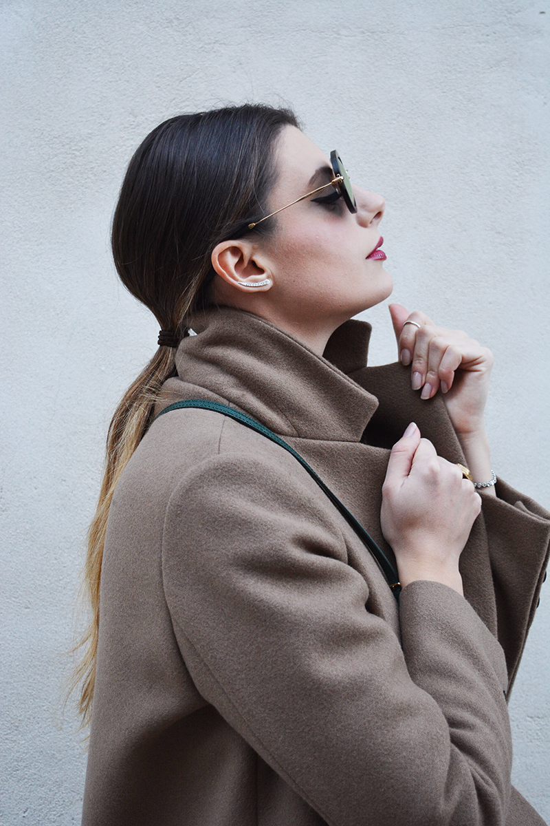 9 miu miu mirror lenses gold sunglasses fall winter 2015 2016 behindmyglasses.com giulia de martin jill sander coat dolce & gabbana bag zara shoes
