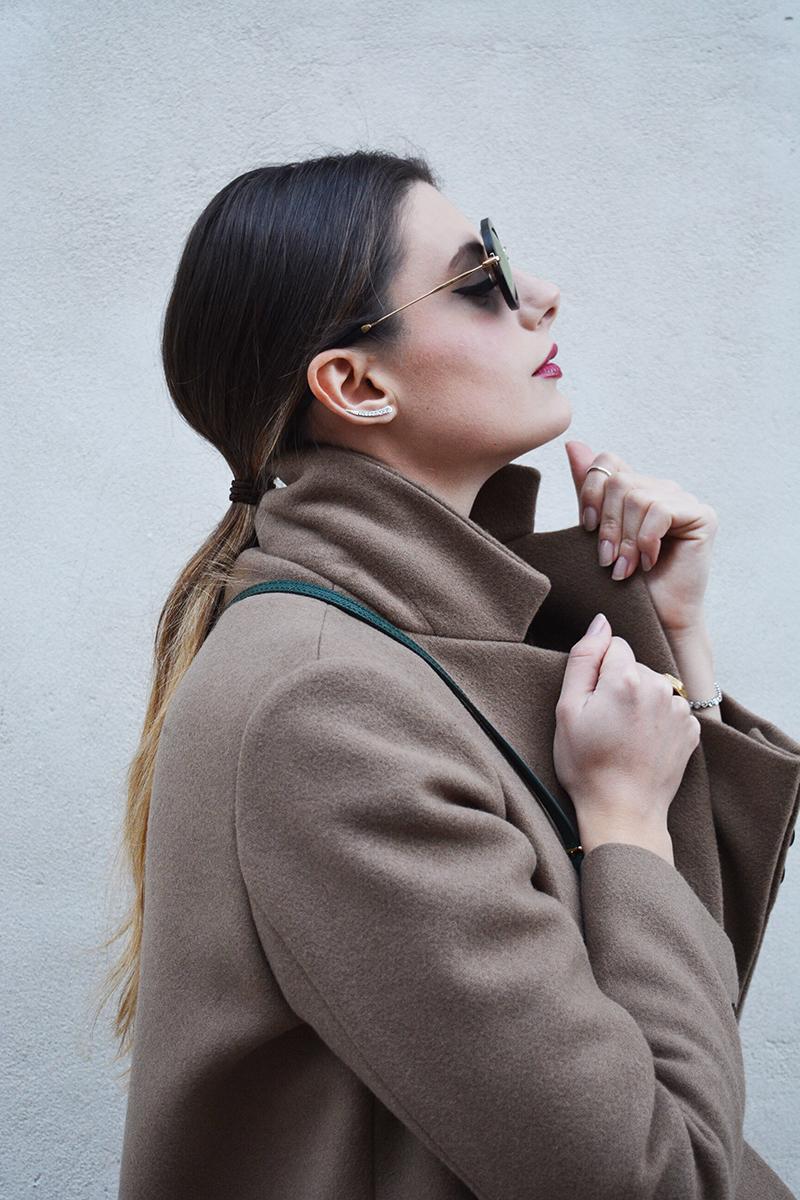 9 miu miu mirror lenses gold sunglasses fall winter 2015 2016 behindmyglasses.com giulia de martin jill sander coat dolce & gabbana bag zara shoes