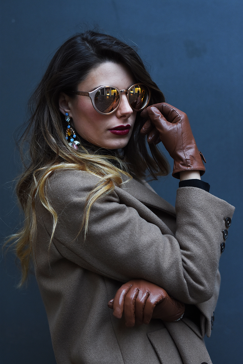 2 linda farrow sunglasses behdindmyglasses giulia de martin rose gold piton temples cat eye blog spring summer 2016