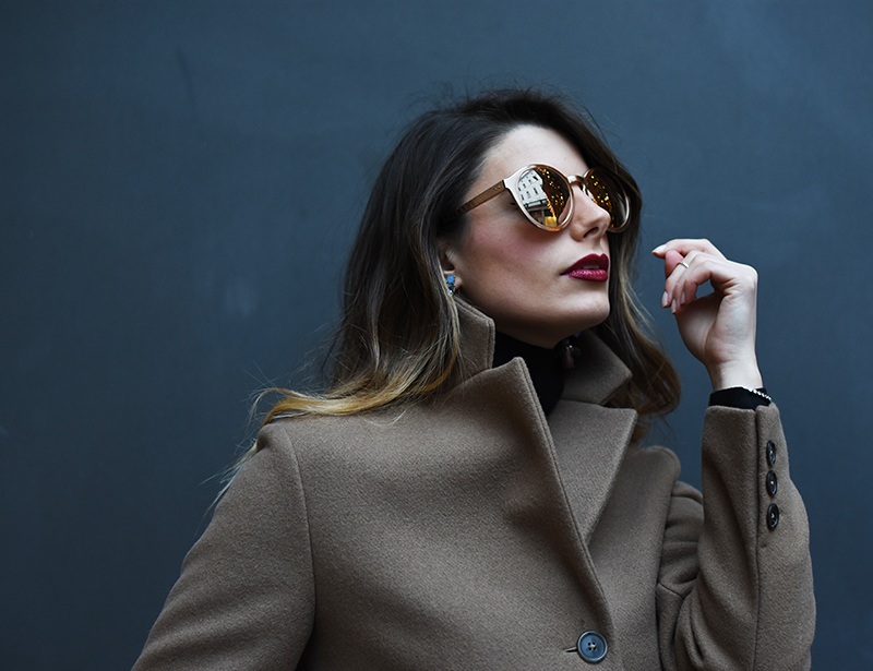 3 linda farrow sunglasses behdindmyglasses giulia de martin rose gold piton temples cat eye blog spring summer 2016