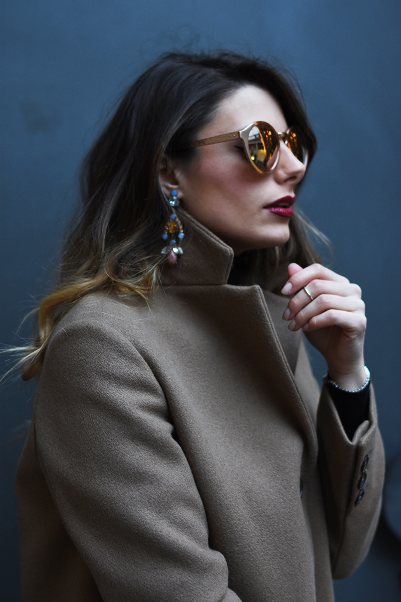 4 linda farrow sunglasses behdindmyglasses giulia de martin rose gold piton temples cat eye blog spring summer 2016
