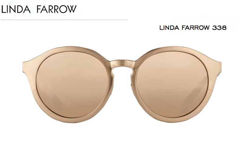 6 linda farrow sunglasses behdindmyglasses giulia de martin rose gold piton temples cat eye blog spring summer 2016