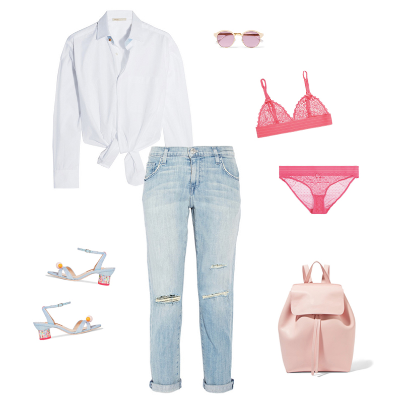 look maje shirt white sheriff and cherry sunglasses net a porter pink summer sunnies eyewear