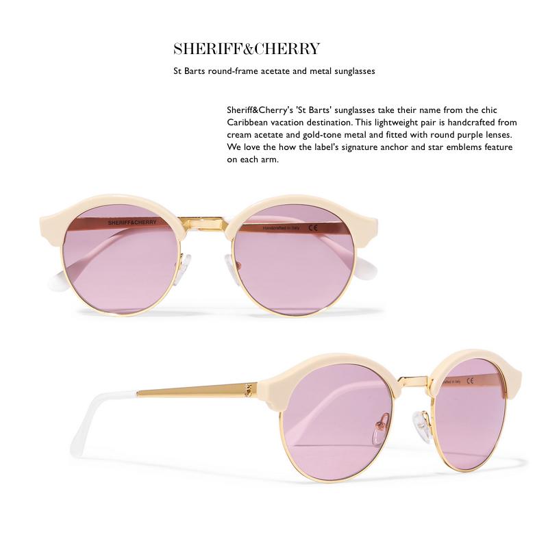 sheriff and cherry sunglasses net a porter pink summer sunnies eyewear
