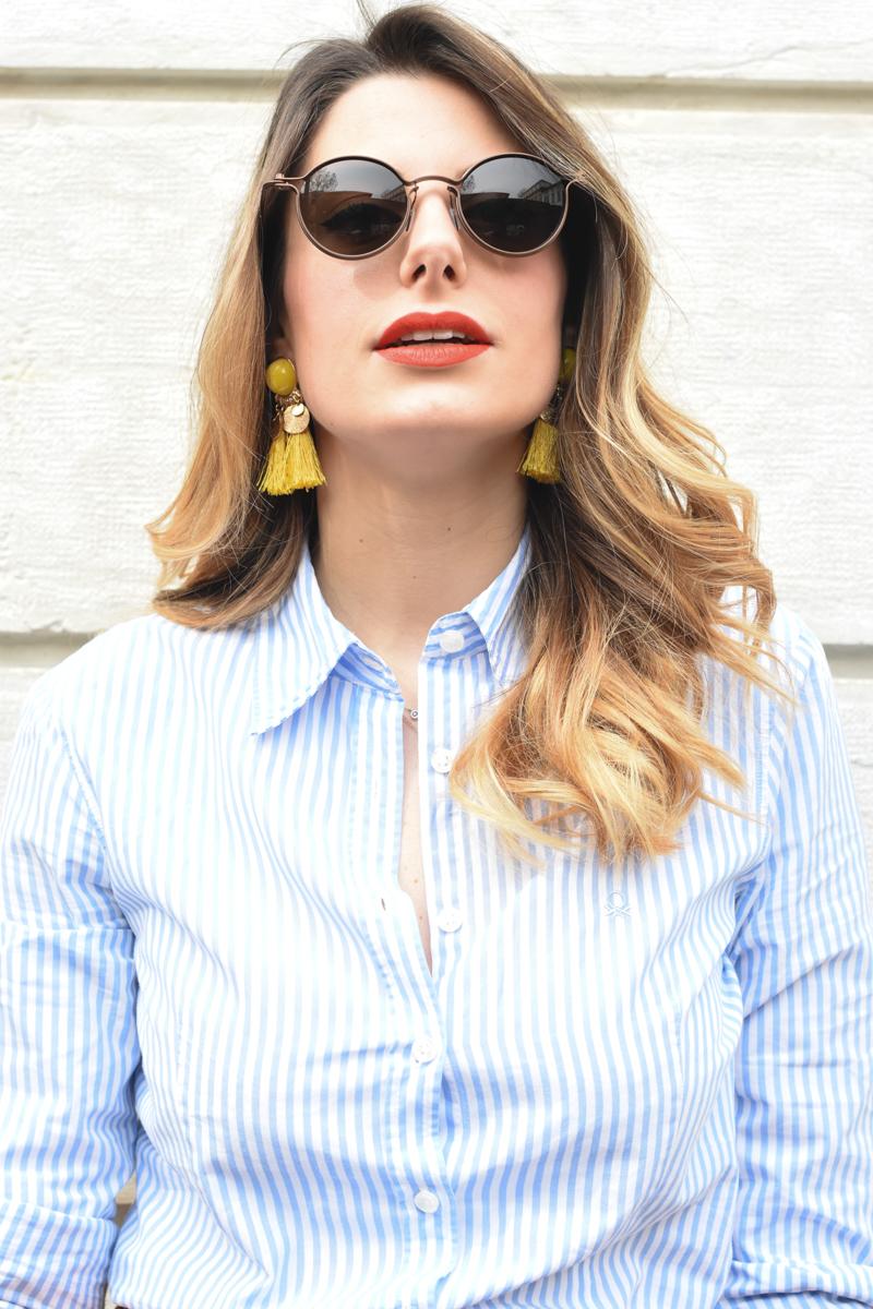 giulia de martin tavat eyewear sunglasses spring summer 2016 american eyewear USA made in italy behindmyglasses.com blog blogger sunglasses sunnies eyewear h&m skirt earrings-1