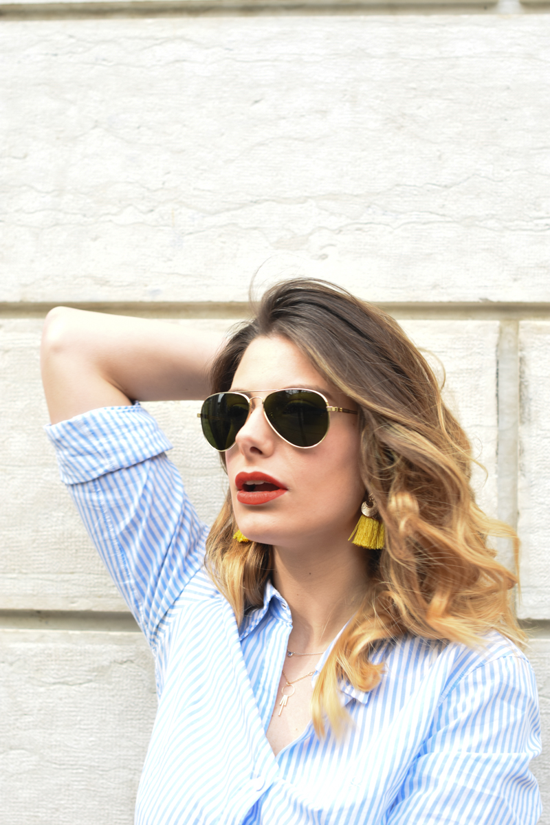 giulia de martin tavat eyewear sunglasses spring summer 2016 american eyewear USA made in italy behindmyglasses.com blog blogger sunglasses sunnies eyewear h&m skirt earrings-13