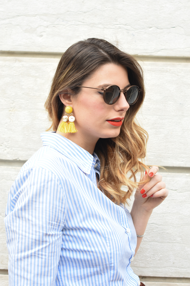 giulia de martin tavat eyewear sunglasses spring summer 2016 american eyewear USA made in italy behindmyglasses.com blog blogger sunglasses sunnies eyewear h&m skirt earrings-2