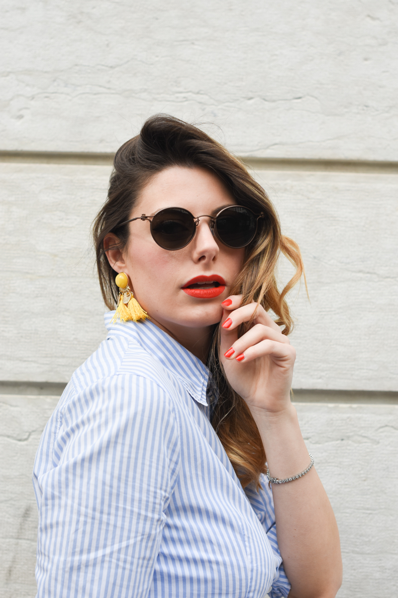 giulia de martin tavat eyewear sunglasses spring summer 2016 american eyewear USA made in italy behindmyglasses.com blog blogger sunglasses sunnies eyewear h&m skirt earrings-3