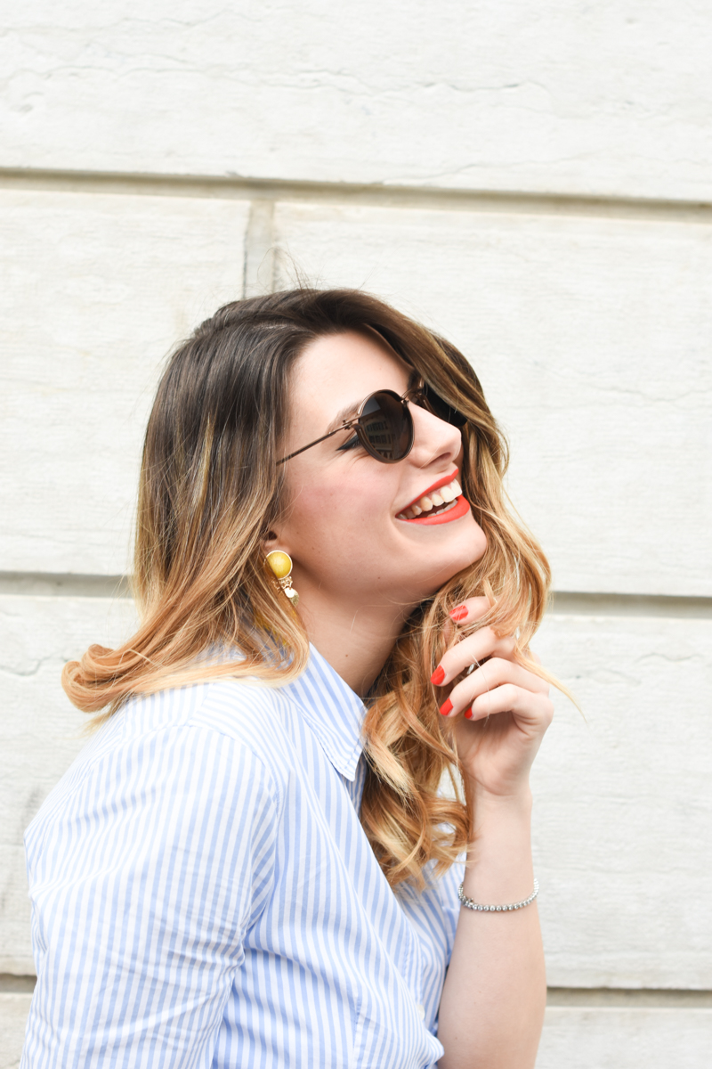 giulia de martin tavat eyewear sunglasses spring summer 2016 american eyewear USA made in italy behindmyglasses.com blog blogger sunglasses sunnies eyewear h&m skirt earrings-5
