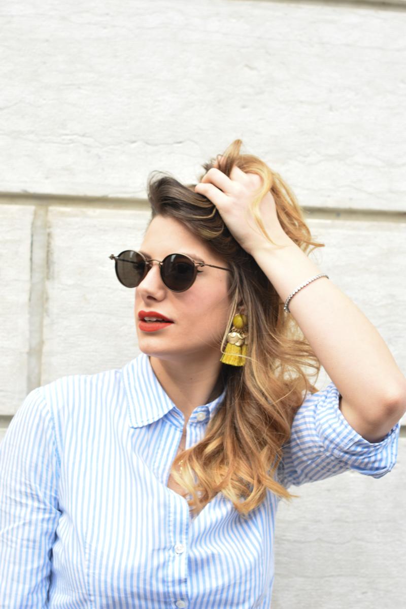 giulia de martin tavat eyewear sunglasses spring summer 2016 american eyewear USA made in italy behindmyglasses.com blog blogger sunglasses sunnies eyewear h&m skirt earrings-6