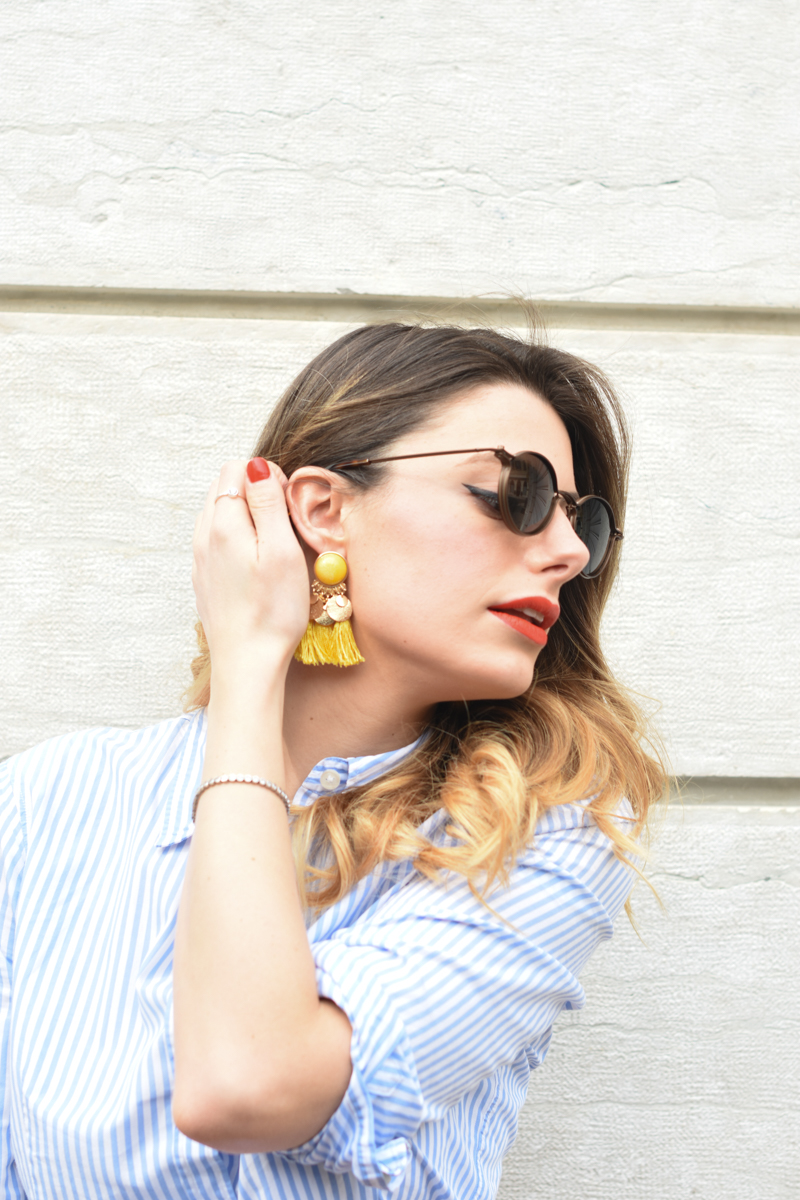 giulia de martin tavat eyewear sunglasses spring summer 2016 american eyewear USA made in italy behindmyglasses.com blog blogger sunglasses sunnies eyewear h&m skirt earrings-8