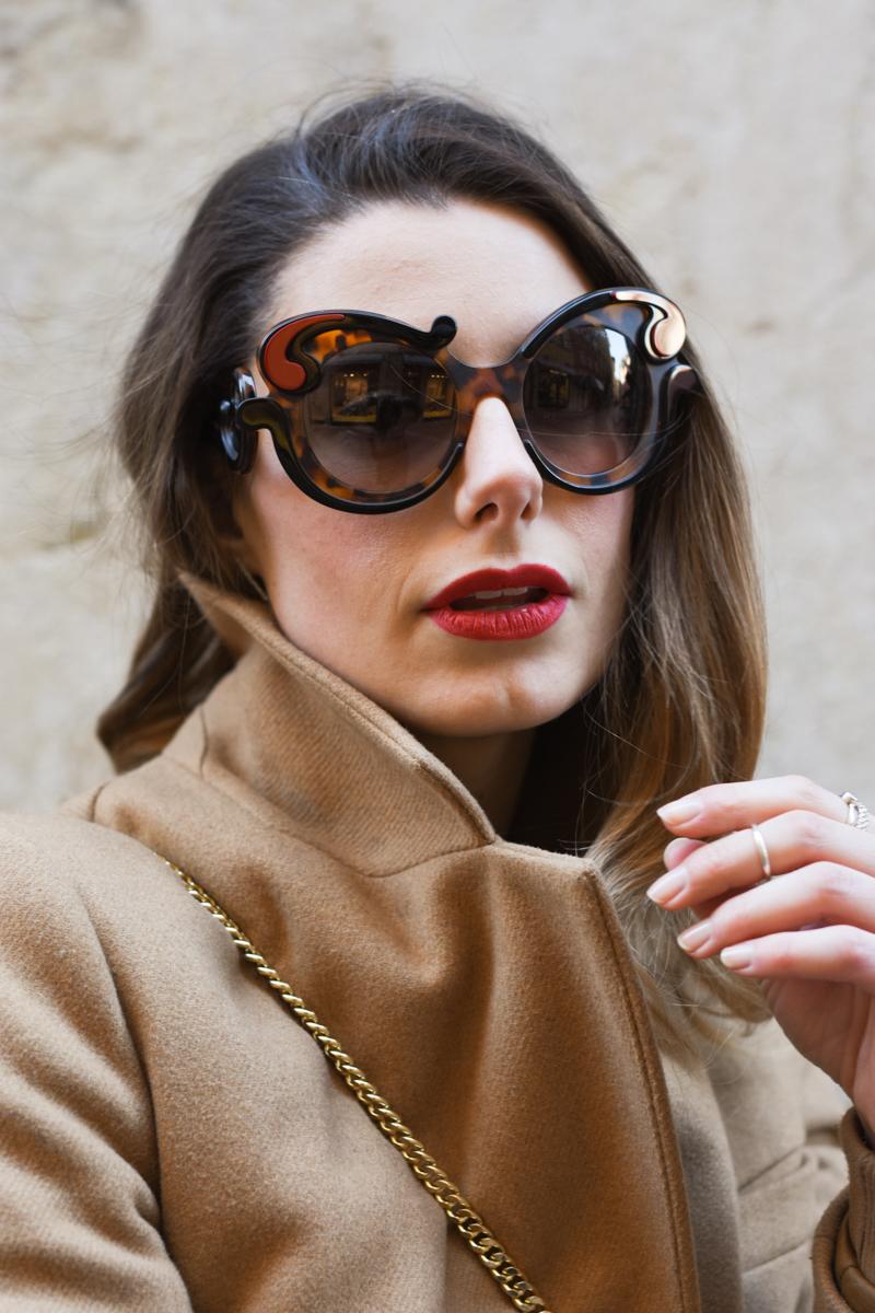 giulia de martin prada baroque sunglasses tortoise SPR23N_EVAJ_F00A7 behindmyglasses.com eyewear blog italian-1