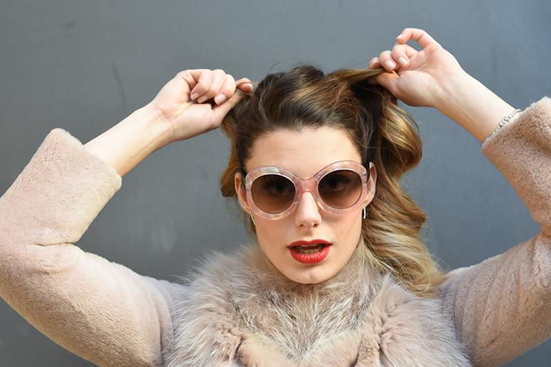 giulia de martin zan zan sunglasses le tabou opal pink blacha fur coat behindmyglasses.com eyewear blog italian-3