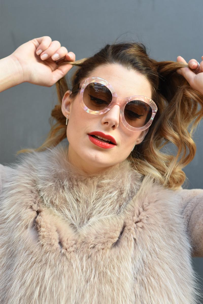 giulia de martin zan zan sunglasses le tabou opal pink blacha fur coat behindmyglasses.com eyewear blog italian-4