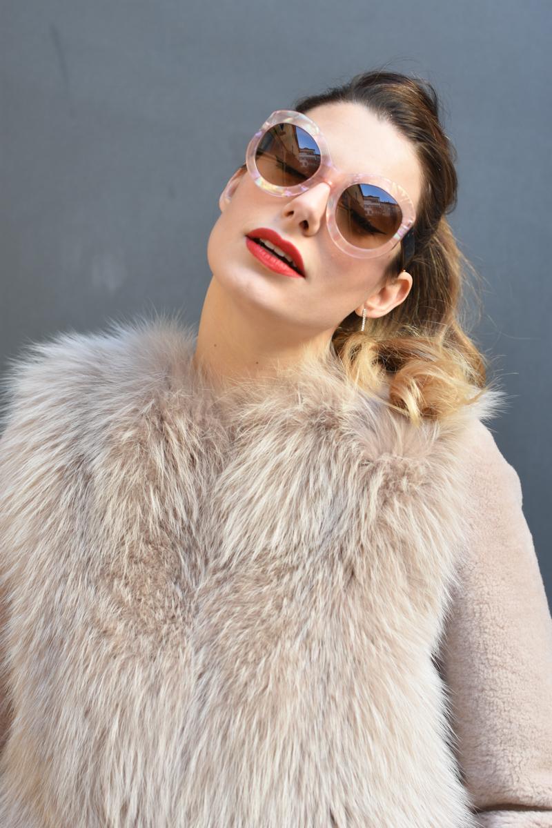 giulia de martin zan zan sunglasses le tabou opal pink blacha fur coat behindmyglasses.com eyewear blog italian-7