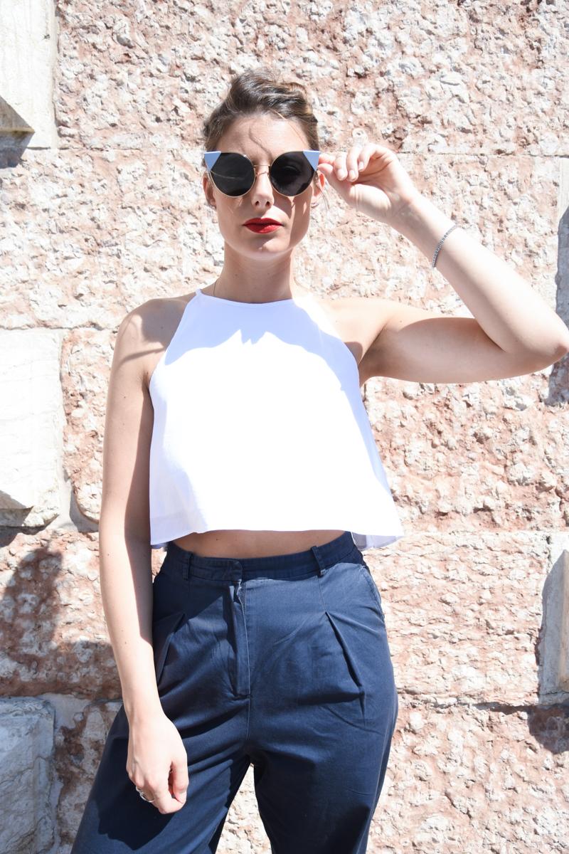 Behind My Glasses Fendi Sunglasses Giulia De Martin Cat eye LEI-Occhiali da sole blu-FOG302V1TF07WE-3
