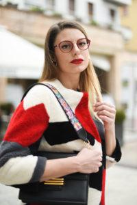 Giulia de martin behind my glasses eyewear blog influencer face a face eyeglasses optical lunettes red rouge Jackie 2 9298m -11