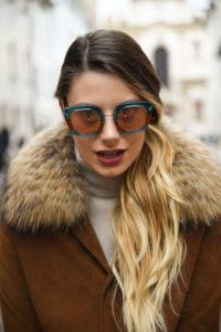 giulia de martin behind my glasses eyewear influencer blogger content creator blog sunglasses eyeglasses face è face paris sunglasses fall winter 2018 frame woman -17