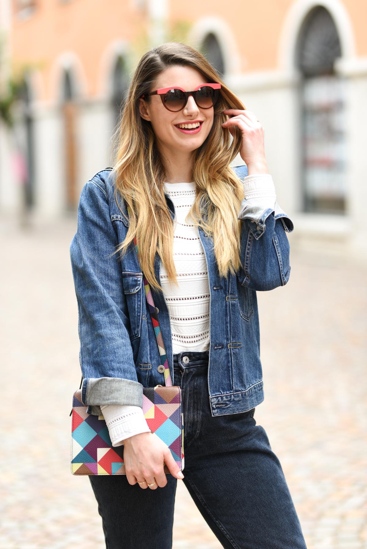 giulia de martin woow sunglasses occhiali da sole frame eyewear pink spring summer 2019 eyewear blog influencer -19