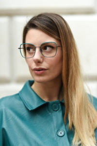 giulia de martin woow full moon2 eyeglasses fall winter 2019 2020 behidn my glasses teal green blue occhiali da vista eyewear blog influencer -1