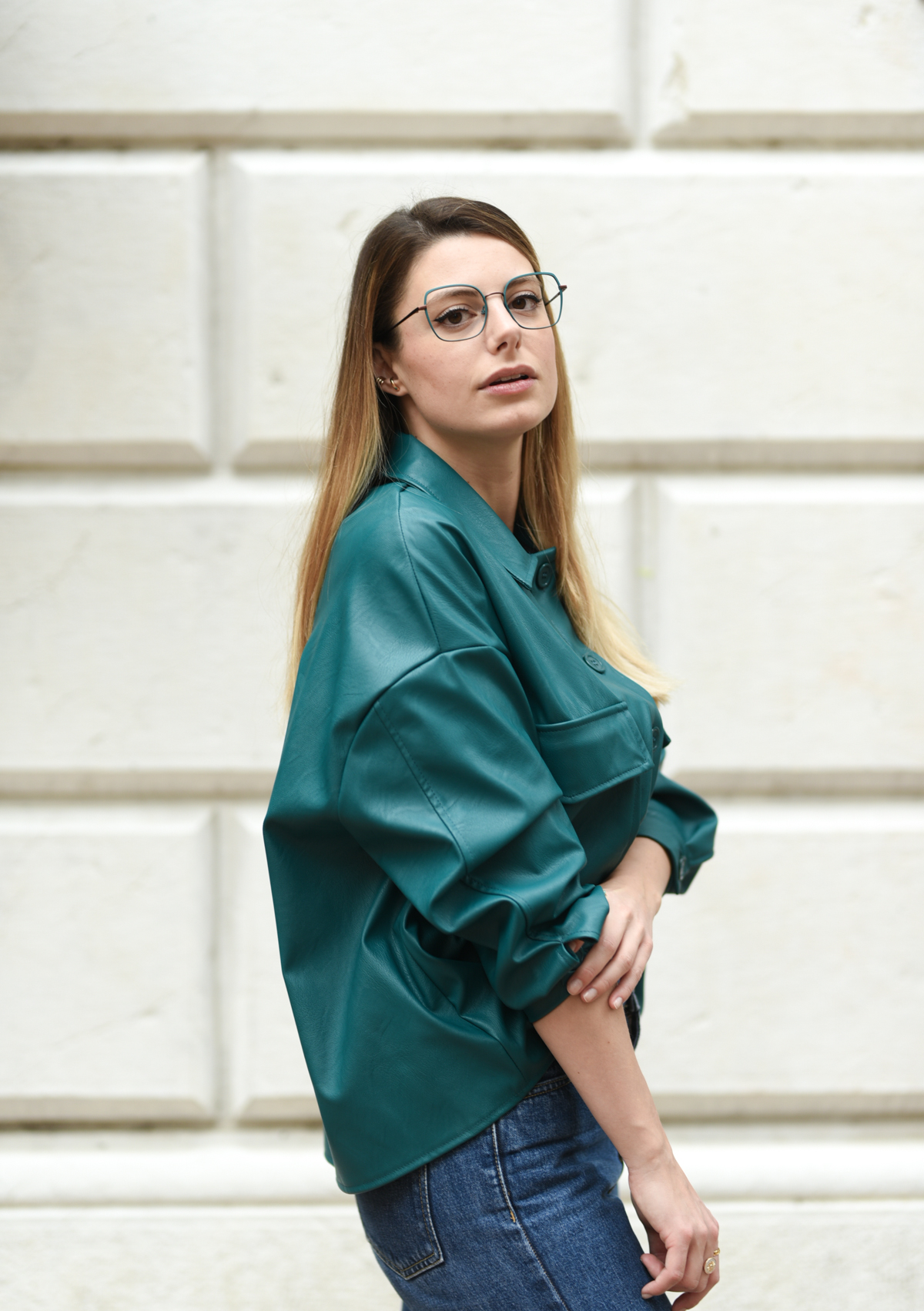 giulia de martin woow full moon2 eyeglasses fall winter 2019 2020 behidn my glasses teal green blue occhiali da vista eyewear blog influencer -1